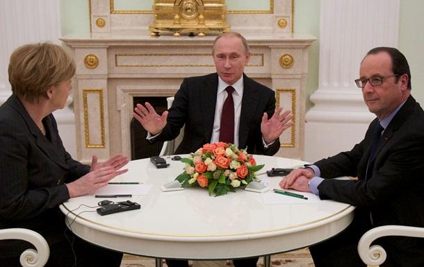 В воскресенье Путин, Олланд и Меркель будут разговаривать по видеосвязи