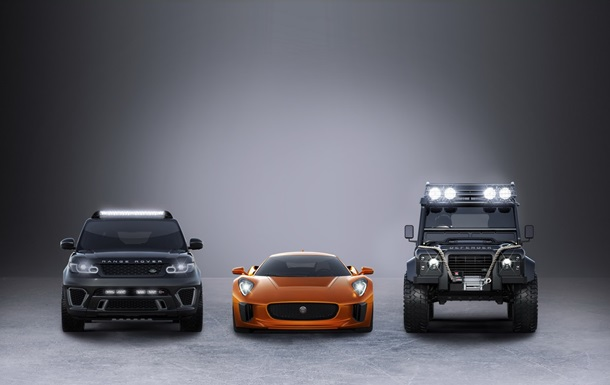 Land Rover и Jaguar показали новые автомобили для  бондианы