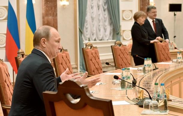 Меркель и Путин временно покидали зал заседаний  нормандской четверки