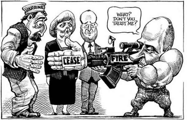 The Economist перепутал Порошенко и Лукашенко на карикатуре