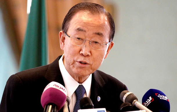 Генсек ООН обеспокоен столкновениями в Дебальцево