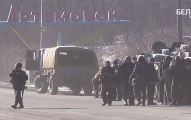 Появилось видео ухода военных из Дебальцево