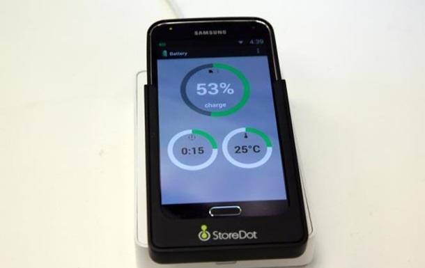 Создан аккумулятор для смартфонов, заряжающийся за минуту