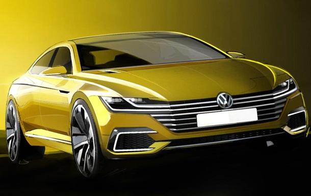 В Volkswagen показали тизер предсерийного Passat CC