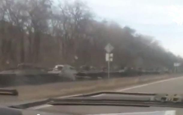 Появилось видео с колонной САУ возле Макеевки