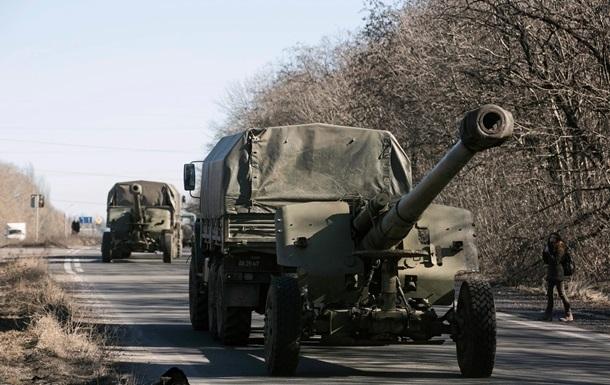 Україна починає відведення важких озброєнь - Генштаб