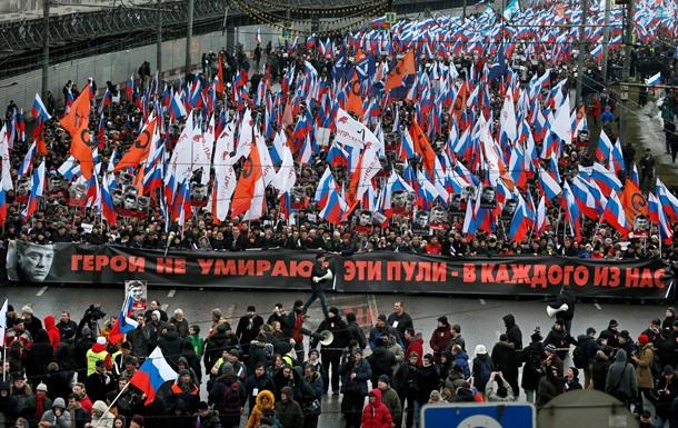 На шествии памяти Немцова в Москве задержаны более полусотни человек