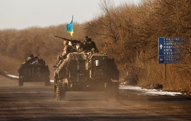 Бойцы АТО готовятся ко второму этапу отвода вооружений