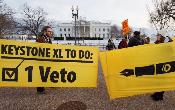 Сенат США не подолав вето Обами на будівництво нафтопроводу Keystone XL