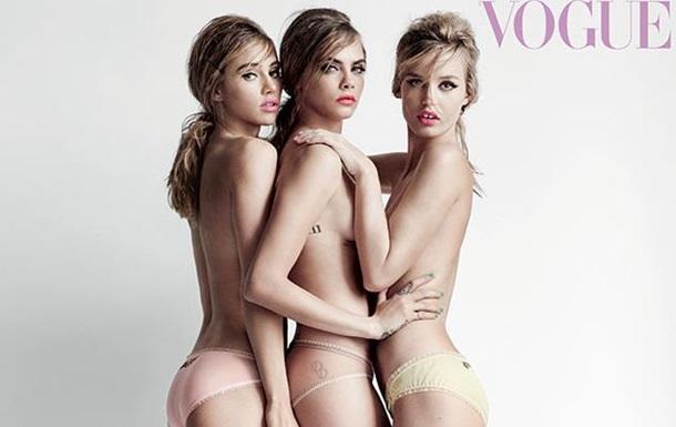Знаменитые модели снялись в откровенной фотосессии для Vogue