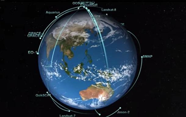NASA показало движение своих орбитальных спутников