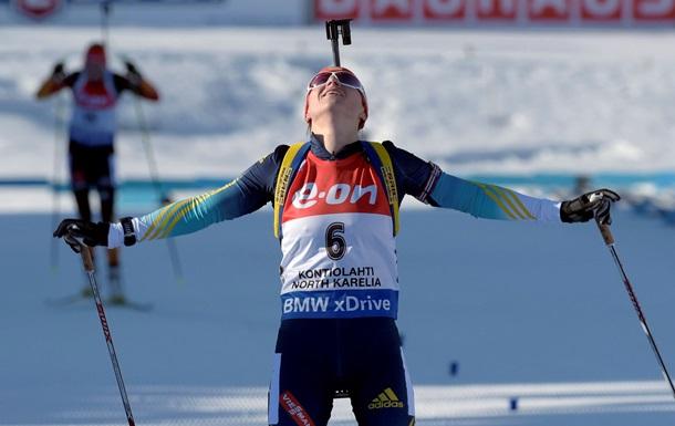 Біатлон: Валя Семеренко завоювала золото у мас-старті