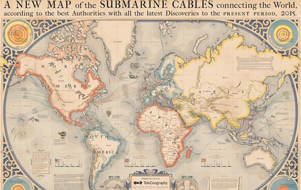 У США створена  морська карта інтернету