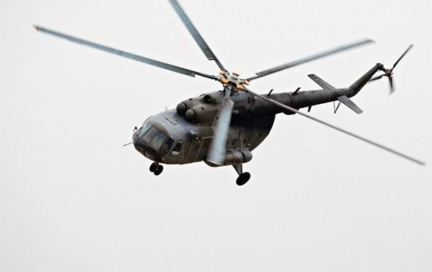 Под Киевом упал военный вертолет