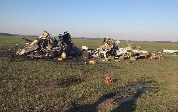 Появилось видео с места аварии вертолета в Киевской области