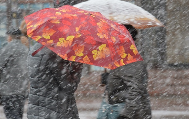 У п ятницю Україну очікують дощі та мокрий сніг