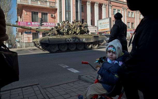 Донецк: российское ТВ и девочка,  которой не было  – BBC