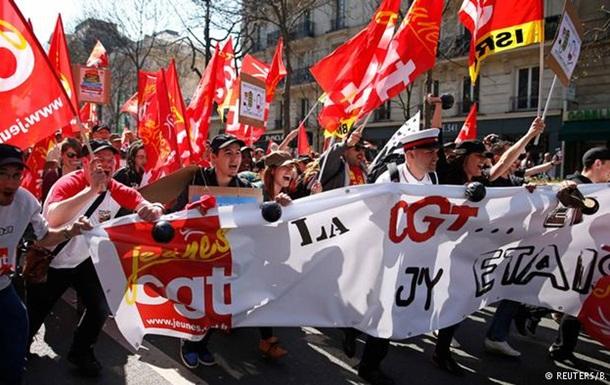 Десятки тысяч французов протестовали против политики Олланда