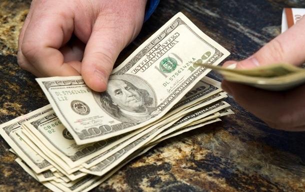 Долар на міжбанку впав нижче 22 гривень