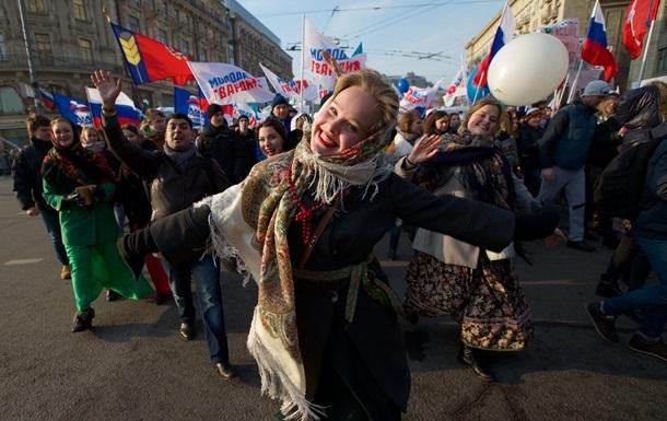 Рекордна кількість росіян задоволені ситуацією в країні - опитування