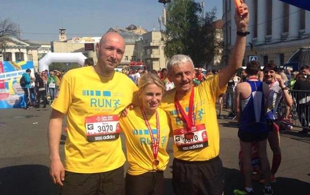 Команда европолитиков пробежала киевский марафон