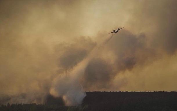 Пожежа в Чорнобилі: вітер з димом сьогодні накриє Київ