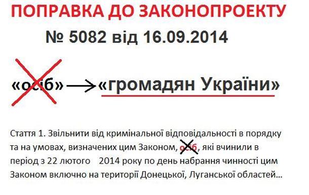 Законопроект Порошенко. ПОПРАВКА.