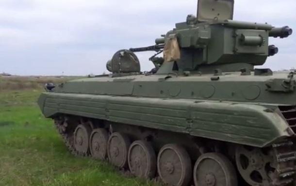 В Украине испытали модернизированный броневик с модулем  Шквал