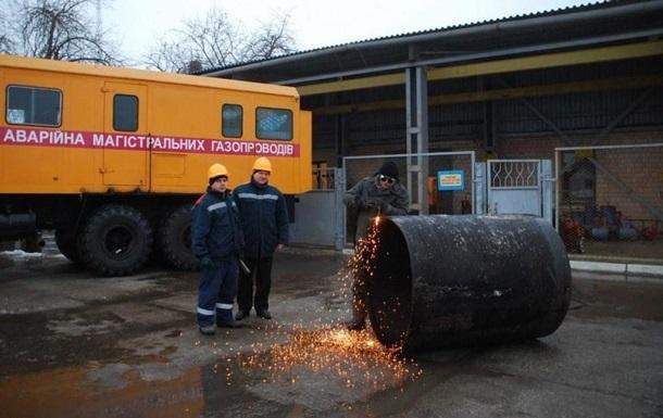 Перебитый газопровод в Станице Луганской отремонтировали
