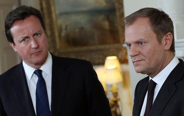 Глава Євроради сподівається, що Кемерон залишить Британію в ЄС