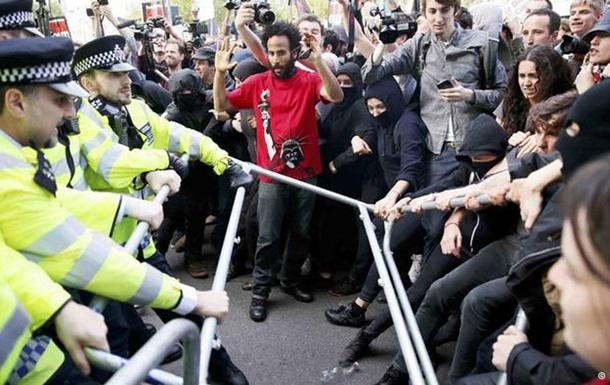 В Лондоне 17 человек арестовано во время протестной акции