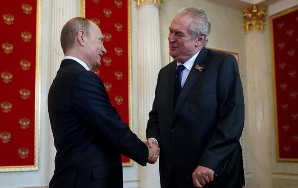 Путин заверил Земана, что не планирует военных действий в Украине