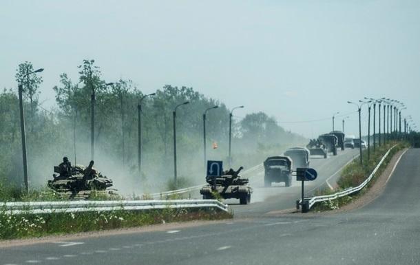 Сепаратисты концентрируют технику на линии фронта. Карта АТО за 16 мая