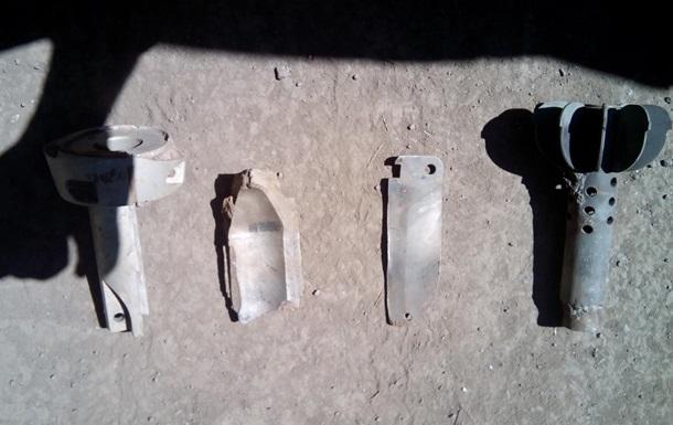 Миссии ОБСЕ показали осколки мин, собранные после обстрела Дзержинска
