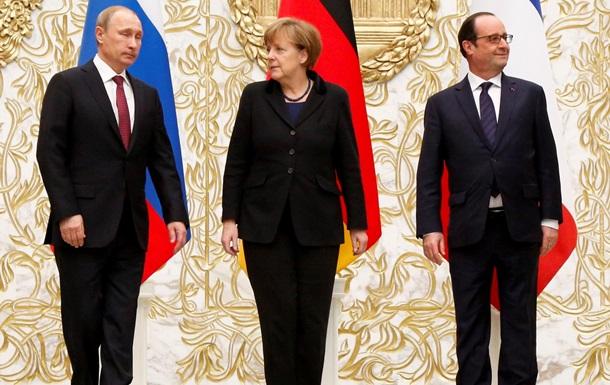 Меркель, Олланд и Путин договорились о встрече в  нормандском  формате