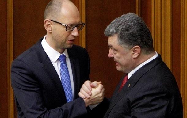 Яценюк предлагает Порошенко объединиться на выборах
