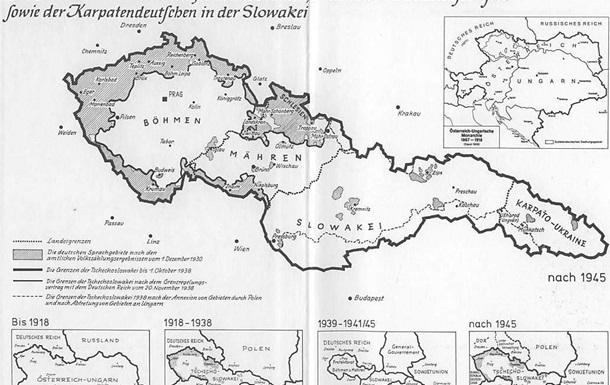 Німецьке населення на території Чехословаччини як фактор етнополітичної напруги