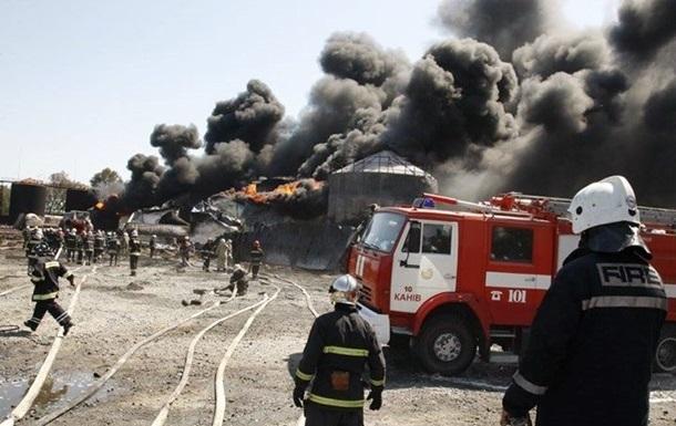 Пожар под Киевом: задержан руководитель нефтебазы