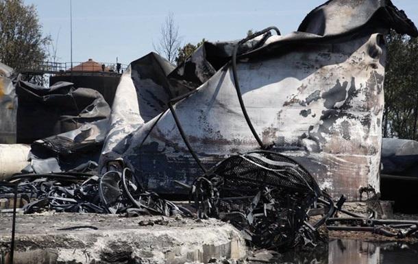 Нефтебаза под Киевом после ликвидации пожара