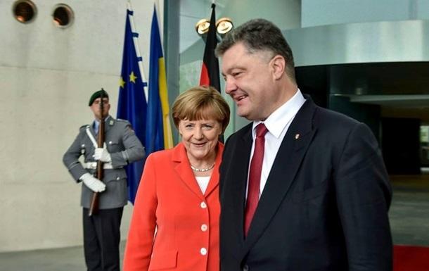Порошенко и Меркель скоординировали позиции накануне  нормандской  встречи