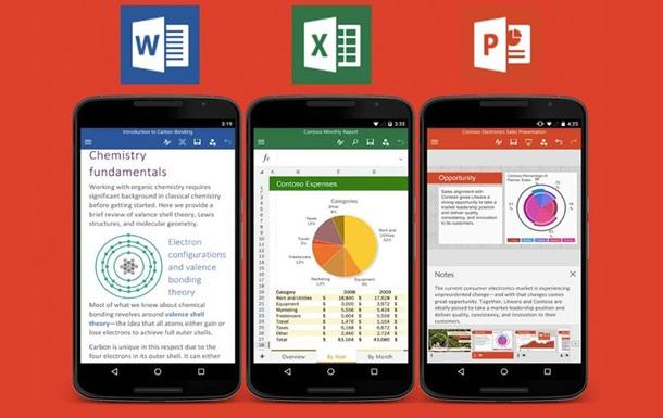 Microsoft випустила безкоштовний пакет додатків Office для смартфонів
