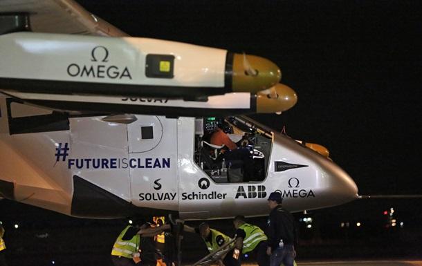 Самолет на солнечных батареях продолжил свое кругосветное путешествие
