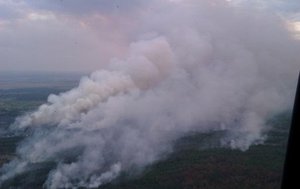 Пожар в Чернобыльской зоне: прекращено распространение огня