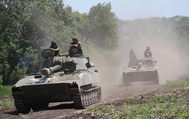 Донбасс обстреливают из тяжелого вооружения. Карта АТО за 30 июня
