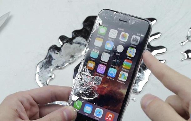 iPhone 6 испытали на прочность жидким галлием