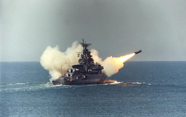 День ВМФ в Севастополе: Ракета российского корабля развалилась при запуске