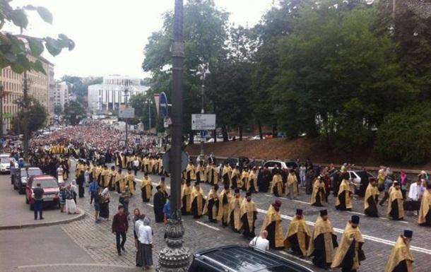 Крестный ход парализовал центр Киева