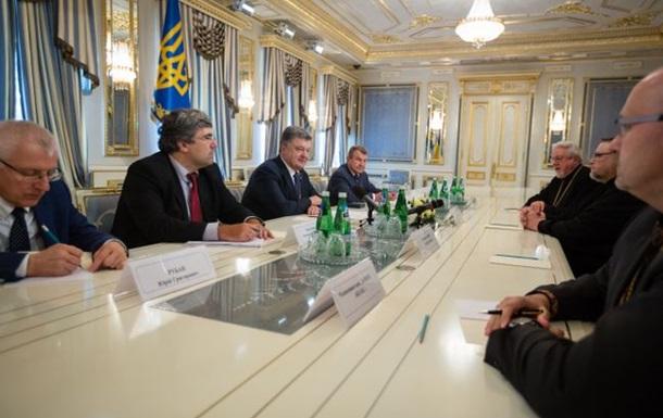 Порошенко хочет видеть в Украине единую поместную церковь