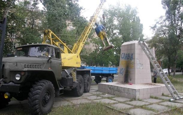 На Луганщине впервые законно убрали Ленина