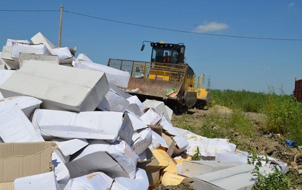 В России за сутки уничтожили почти 320 тонн санкционных продуктов